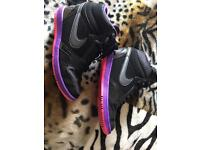 Nike force pink black and purple size 5 trainers