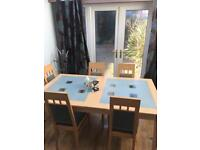 Stokers display cabinet, table & chairs