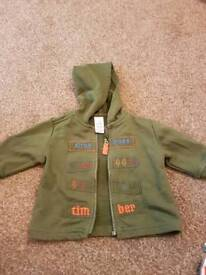 Adams Baby boys first size jumper jacket (up to 11llb/5kg).