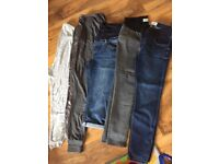 Maternity clothes size 10-12 excellent condition - jeans, trackies, tops, dresses
