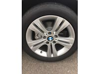 BMW alloy wheels and tyres 17 inches, F30