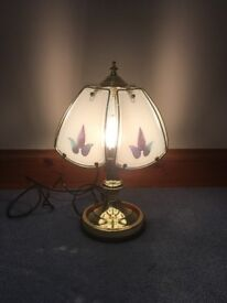 TOUCH BASE BRASSED EFFECT LAMP