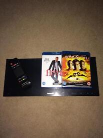 Panasonic 3D blue ray player and 2 films
