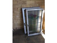 2x stained glass windows