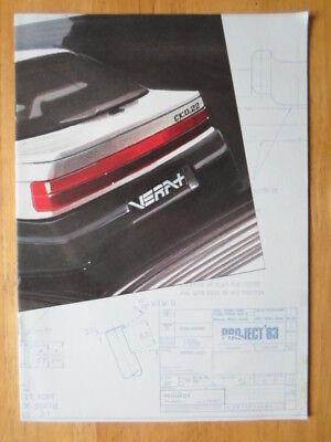 PEUGEOT TALBOT RANGE orig 1983 UK Mkt Sale Brochure - Rancho Samba Tagora Alpine