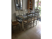 6 oak ladder backed dining chairs