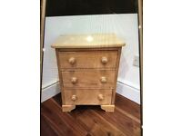 Pine bedside table