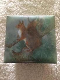 NEW SQUIRREL MEMO BLOCK WITH PAPER AND DRAWER