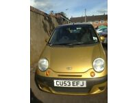 Well loved 2003 Gold Daewoo Matiz Se+, 0995CC Petrol, 5DR, Manual for sale or parts. £300 ono.