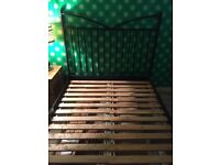 Solid cast iron double bed frame