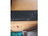 Black PC keyboard. Brand new in fully working