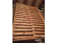 Double bed frame loft bed very low