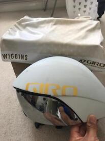 Giro Aerohead ultimate time trial triathlon helmet Wiggins team issue. Aero helmet road bike