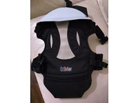 Bebamour Baby Carrier Backpack 4 in 1 Carry Ways Front and Back Carrier (Black)