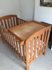 John Lewis Rachel Cotbed, mattress and changing table