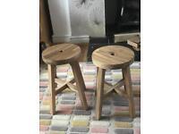 Handmade Hardwood kid stools