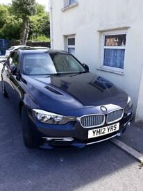 BMW 3 SERIES 2.0L 318D 2012 MODERN (LUXURY) MANUAL 58600miles EXCELLENT, MET BLUE, biege leather