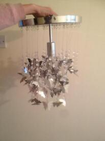 Crome looking light fitting
