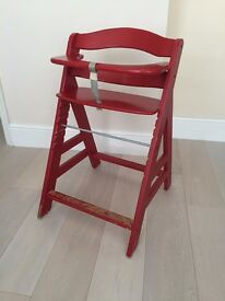 High chair for baby/toddler wooden