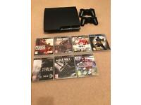 Sony PlayStation 3 (PS3) Bundle with 2 wireless controllers and 7 games