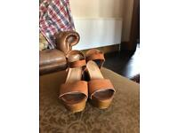 Dune Leather Wedge Sandal!