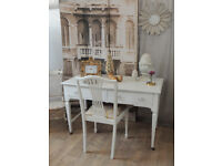 Shabby chic Edwardian desk with chair