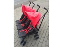Obaby Triple Buggy Pushchair with footmuffs and raincover Like New £80