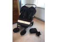 Mountain Buggy Duet. with cover and drinks holder and optional bassinet