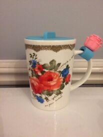 Porcelain Rose Mug