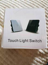 Glass touch light switch