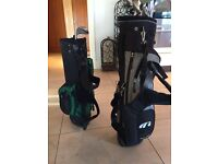 2 junior golf bags and irons £50 can be sold separately