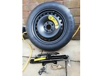 Spare wheel for a Ford C Max 2004,T125/85R16,S Stud + Jack