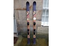 Fischer Watea skis 176cm with touring bindings attached. Plus 2nd set of bindings.
