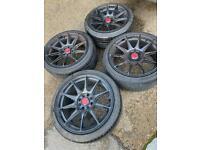 "17"" 4x108 xxr 527 4x100 Ford Fiesta Peugeot Alloy Wheels With Tyres"