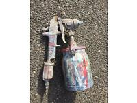 2x spray guns and paraffin gun