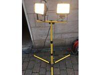 Work lights - folding dual halogen heavy duty