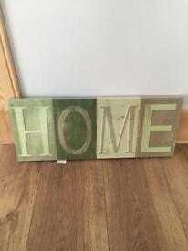 'Home' hanging print