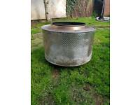 Fire pit washing machine drum