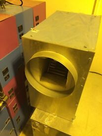 "Cheshunt Hydroponics Store - used 8"" metal acoustic box fan"