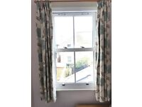 John Lewis Curtains with Green Flower