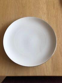 Dinner service , Thomas China thin platinum band, 6 place setting