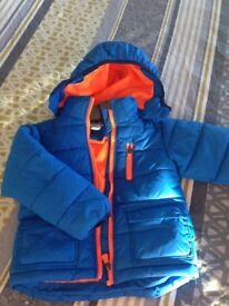 Selection of boys coats