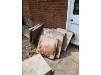 Paving slabs 2x2 ft