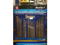 16pc punch and chisel set