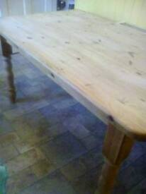 Farmhouse chunky pine Table