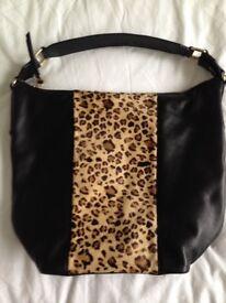 Jones black and animal print bag