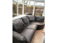 Sofa brown leather