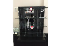 EX BHS RETAIL CLOTHES DISPLAY WITH GLASS AND STEEL FITTINGS - VERY GOOD CONDITION AT A BARGAIN PRICE