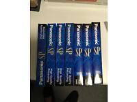 Panasonic SP VHS video cassettes