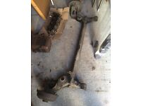 Vauxhall corsa c rear axle complete with hubs